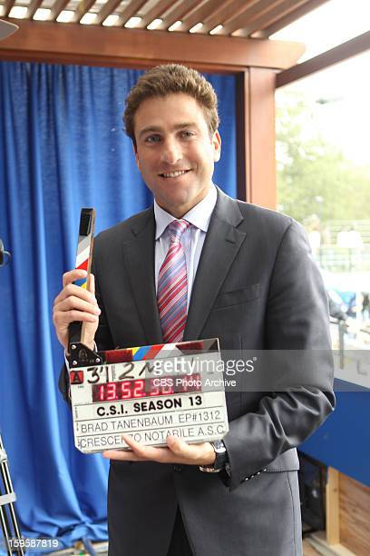 Double Fault Tennis Pro Justin Gimelstob on the set of the CBS drama CSI CRIME SCENE INVESTIGATION Wednesday Jan 23 on the CBS Television Network
