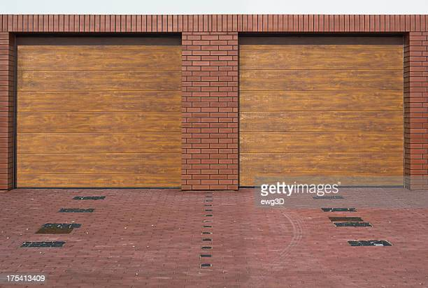 double garage - paving stone stock pictures, royalty-free photos & images