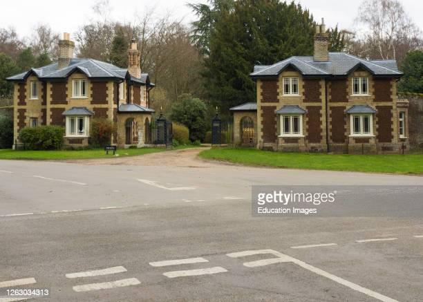 Double Lodges, Lodge houses on the Sandringham Estate, Norfolk, UK .