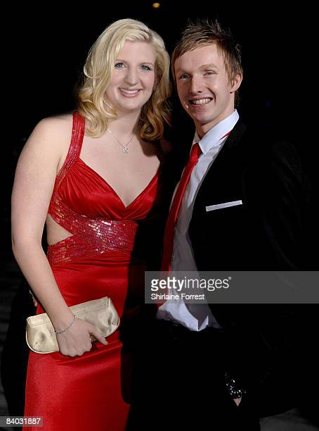 Double Olympic gold medla winner Rebecca Adlington and guest attend the BBC Sports Personality Of The Year at Echo Arena on December 14 2008 in...