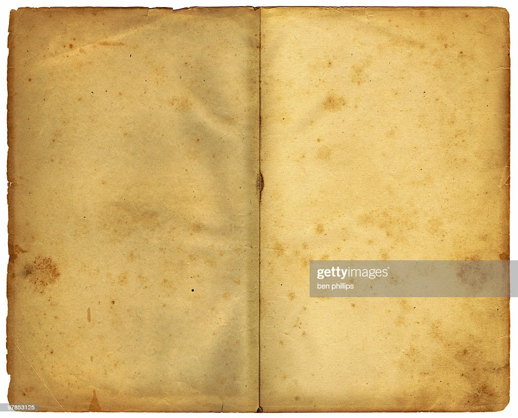 double page - 125 years old : Stock Photo