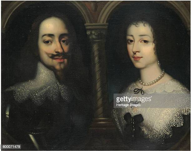 Double portrait of King Charles I and Queen Henrietta Maria Private Collection Artist Dyck Sir Anthony van