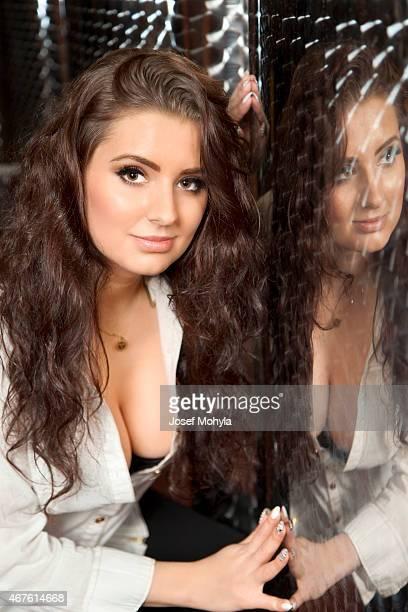 Double portrait or mirroring of beautiful women