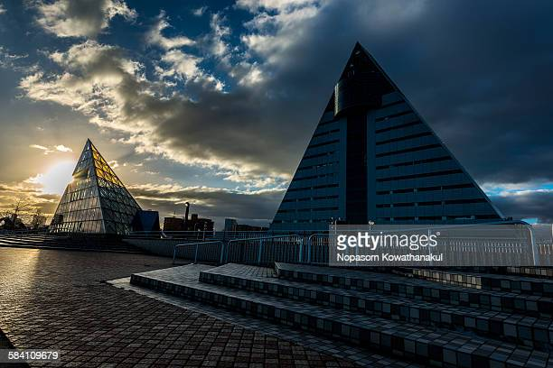 double pyramid - aomori prefecture stock pictures, royalty-free photos & images