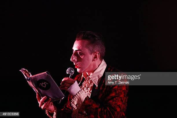 Double R Club cabaret actor Benjamin Louche dressed as Ben in Blue Velvet during the sixth annual Twin Peaks UK Festival at Genesis Cinema on October...