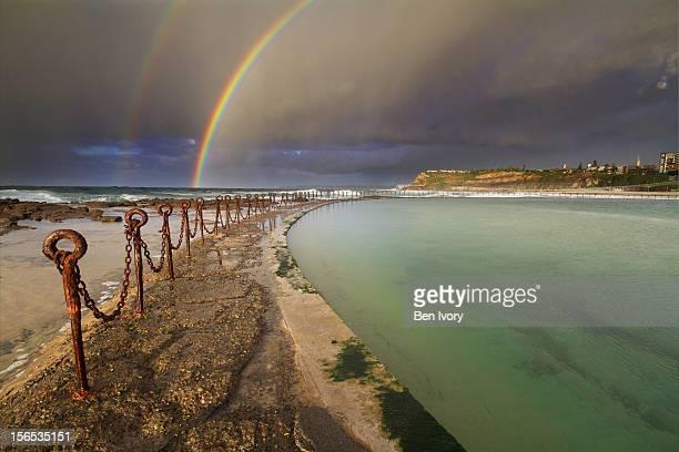 Double rainbow over Newcastle Baths