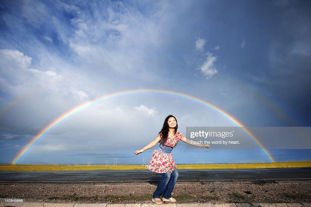 Double rainbow : Stock Photo