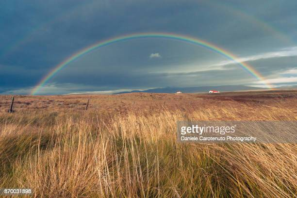 double rainbow - daniele carotenuto stock-fotos und bilder