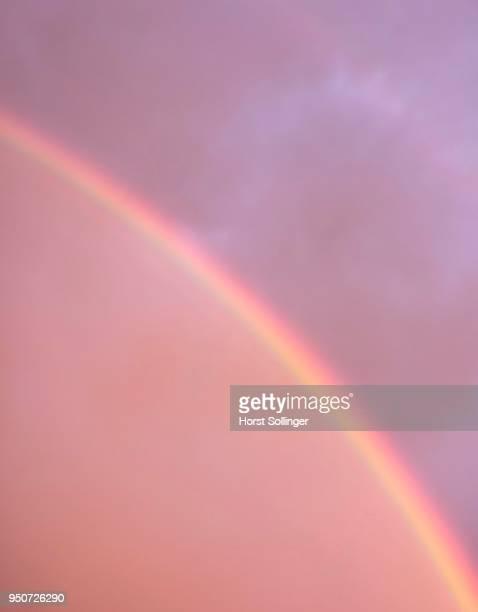 double rainbow segment, atmospheric optical phenomenon, bavaria, germany - light natural phenomenon stock photos and pictures