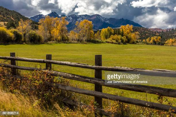 Double RL Ranch near Ridgway Colorado USA with the Sneffels Range in the San Juan Mountains