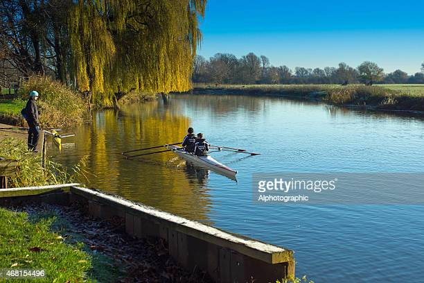 Double sculls training in Huntingdon