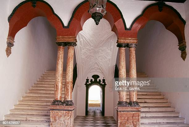 Double staircase with columns, Benameji palace, Ecija, Andalusia. Spain, 18th century.