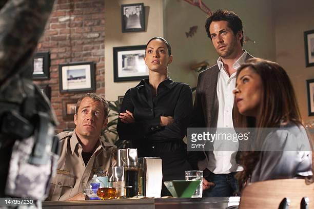 EUREKA Double Take Episode 5013 Pictured Colin Ferguson as Jack Carter Erica Cerra as Jo Lupo Niall Matter as Zane Donovan Salli RichardsonWhitfield...