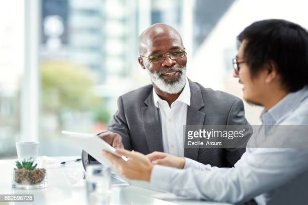 double the exec power on their project - black people talking stock photos and pictures