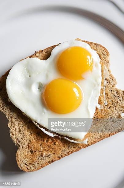 Double Yolk Heart Shape Egg