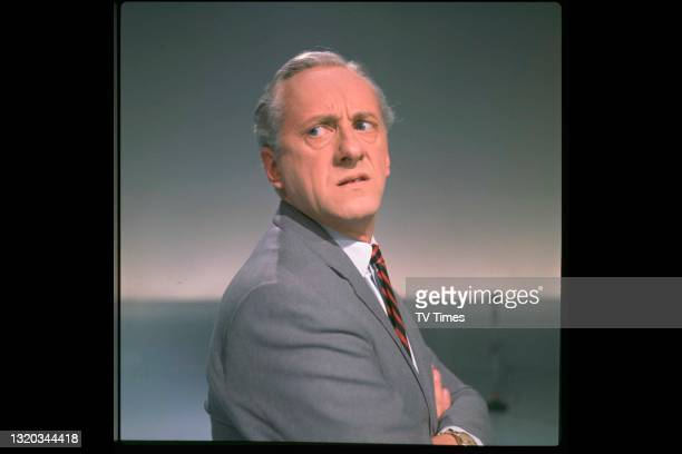 Double Your Money and Opportunity Knocks presenter Hughie Green pulling a funny face, circa 1967.