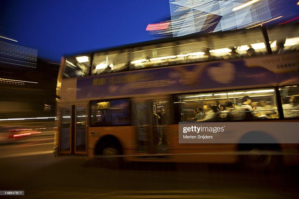 Double-decker bus. : Stockfoto