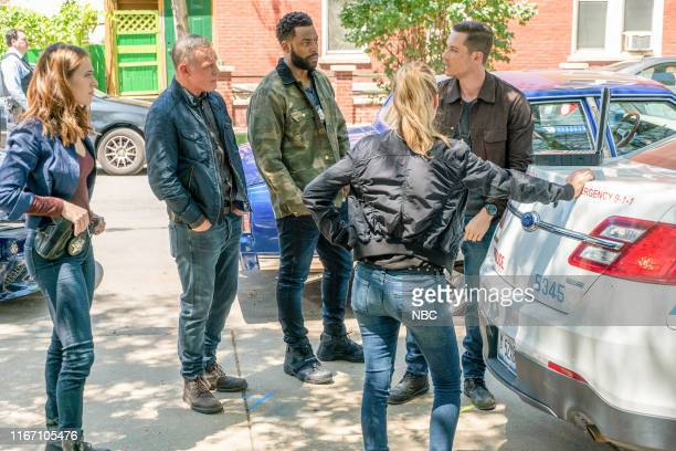 "Doubt"" Episode 701 -- Pictured: Marina Squerciati as Officer Kim Burgess, Jason Beghe as Sgt. Hank Voight, LaRoyce Hawkins as Officer Kevin Atwater,..."