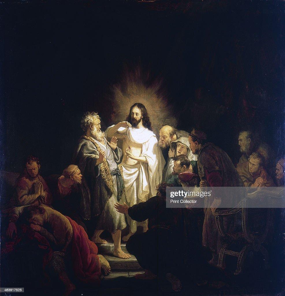 'Doubting Thomas', 1634. Artist: Rembrandt Harmensz van Rijn : News Photo