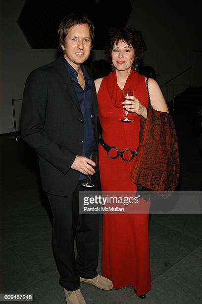 Doug Aitken and Deborah Aitken attend MoMA AND CREATIVE TIME Open DOUG AITKEN SLEEPWALKERS at The Museum of Modern Art on January 16 2007 in New York...