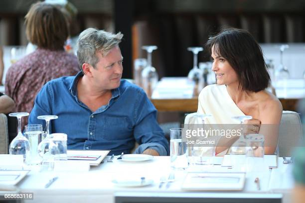 Doug Aitken and Rosetta Getty attend a VIP Dinner for Desert X in Palm Springs at SOPA Restaurant on April 14 2017 in Palm Springs California