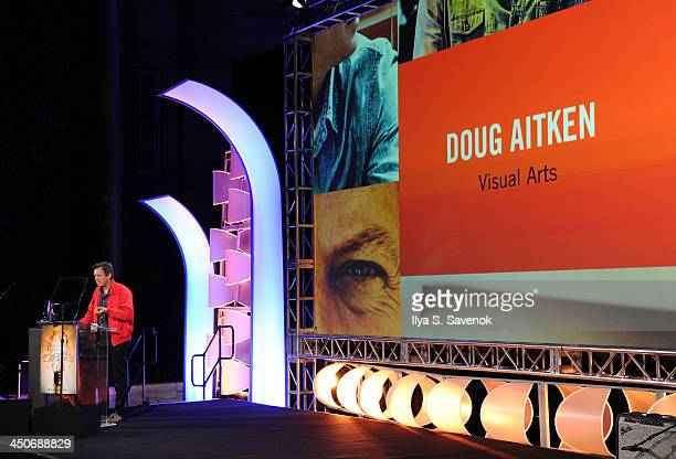 Doug Aitken speaks during Smithsonian Magazine's 2013 American Ingenuity Awards on November 19 2013 in Washington DC