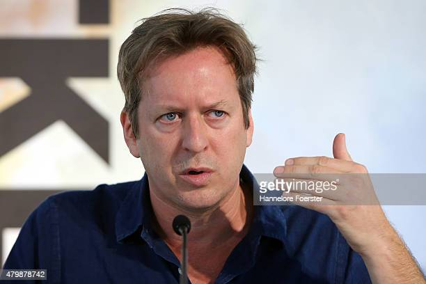 Doug Aitken the american artist presenting its spectacular video and sounds work at Schirn Kunsthalle on July 8 2015 in Frankfurt am Main Germany
