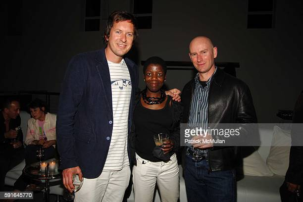Doug Aitken Thelma Golden and Nicholas Baume attend Gucci Art Basel Party with Doug Aitken at At the home of Dan Davidson on December 3 2005 in Miami...