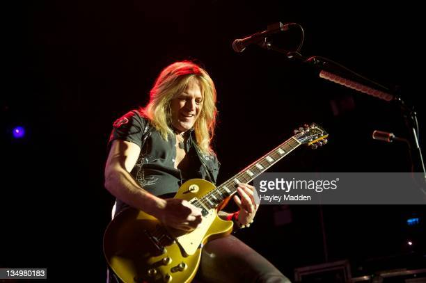 Doug Aldrich of Whitesnake performs on stage at HMV Forum on December 5 2011 in London United Kingdom