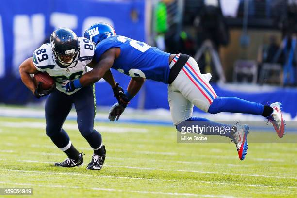 Doug Baldwin of the Seattle Seahawks in action against the New York Giants at MetLife Stadium on December 15, 2013 in East Rutherford, New Jersey....