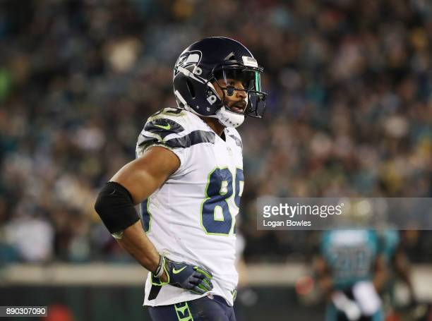 Doug Baldwin of the Seattle Seahawks waits on the field during the second half of their game against the Jacksonville Jaguars at EverBank Field on...