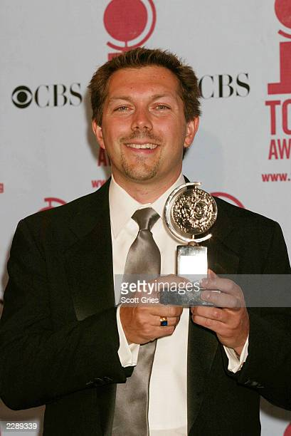Doug Besterman in the pressroom for the 56th Annual Tony Awards at the Rainbow Room New York City June 2 2002 Photo By Scott Gries/ImageDirect