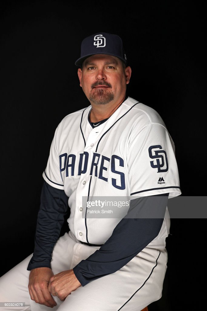 Doug Bochtler #45 of the San Diego Padres poses on photo day during MLB Spring Training at Peoria Sports Complex on February 21, 2018 in Peoria, Arizona.