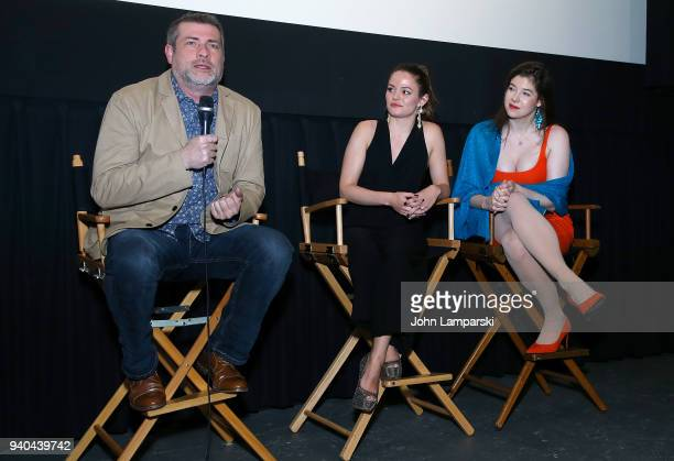 Doug Bollinger Annelise Nielsen and Timothy Laurel Harrison attend 'The Samaritans' New York premiere at Anthology Film Archives on March 31 2018 in...