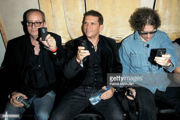 Doug Brod Mark DiDia and Mick Rock attend JOHN VARVATOS STAR USA host Free The Noise party at John Varvatos 315 Bowery on September 15 2009 in New...