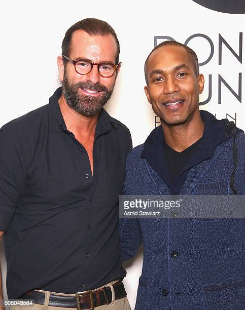 Doug Conklyn and Designer Donrad Duncan attends the EFM Autumn/Winter 2016 Men's Presentation at Skylight at Clarkson Sq on February 2, 2016 in New...