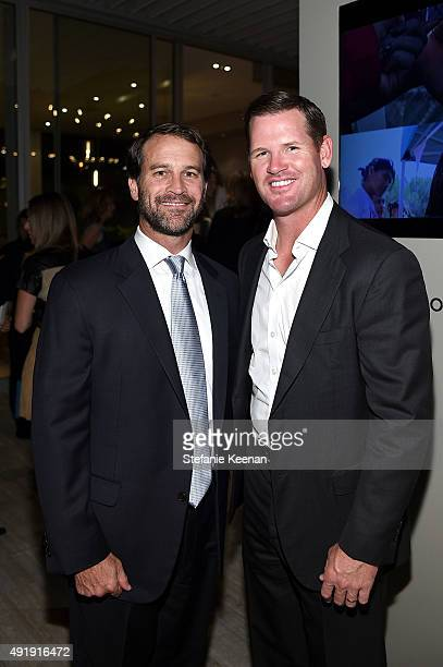 Doug Croxall and Cade McNown attend Barneys New York Private Dinner In Support of Heart of Los Angeles at the private home of Sharon and Mauricio...