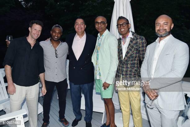 Doug di Stefano Darold Cuba Don Peebles Mark Anthony B Michael and Seth Bryant attend Katrina and Don Peebles Host NY Mission Society Summer...