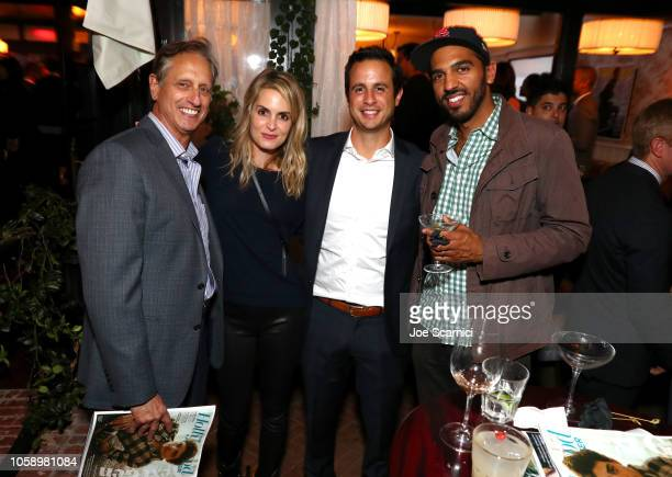 Doug Draizin Alexis Draizin Ryan Draizin and guest attends The Hollywood Reporter's Next Gen 2018 Celebration at 40 LOVE on November 7 2018 in Los...