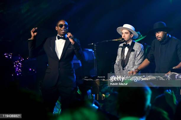 Doug E Fresh and DJ Cassidy speak onstage during Sean Combs 50th Birthday Bash presented by Ciroc Vodka on December 14 2019 in Los Angeles California