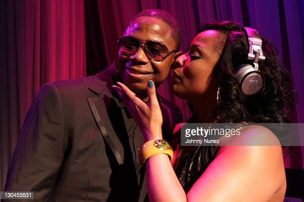 Doug E Fresh and DJ Spinderella attend 11th Annual Uniting Nations Awards viewing and dinner after party at the Beverly Hilton hotel on March 7 2010...