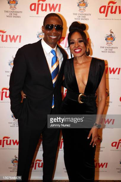 Doug E Fresh and Janell Snowden attend AFUWI Gala 2020 at The Pierre Hotel on February 19 2020 in New York City