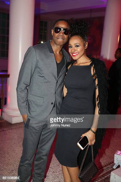 Doug E Fresh and Janell Snowden attend Icon Talks Salutes Fabolous at Brooklyn Borough Hall on March 9 2017 in New York City