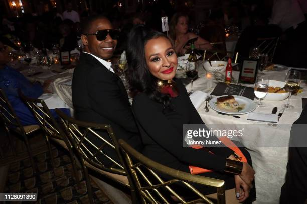 Doug E Fresh and Janell Snowden attend the AFUWI 22nd Annual Legacy Awards Gala at The Pierre Hotel on February 27 2019 in New York City