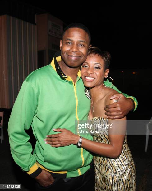 Doug E Fresh and MC Lyte attend Jazz In The Gardens at Sunlife Stadium on March 17 2012 in Miami Florida