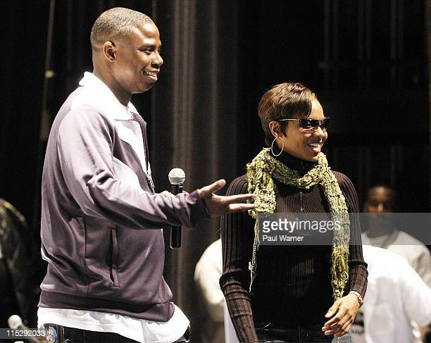 Doug E Fresh and MC Lyte during 2006 Hip Hop Summit Sponsored By Chrysler Financial at Wayne State University's Bonstelle Theatre in Detroit Michigan...