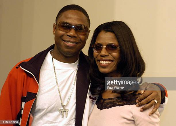 Doug E Fresh and Omarosa ManigaultStallworth during Omarosa ManigaultStallworth Tyson and Doug E Fresh at the NAACP Hip Hop Summit at Cobo Hall in...