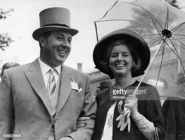 Doug Ellis Birmingham Travel Agent Sunflight pictured with wife Heidi Marie Kroeger at Ascot Racecourse Royal Ascot Hunt Cup Day Wednesday 16th June...
