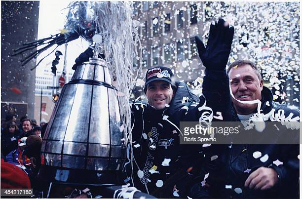 Doug Flutie and Don Matthews at Argonauts parade November 9 1997