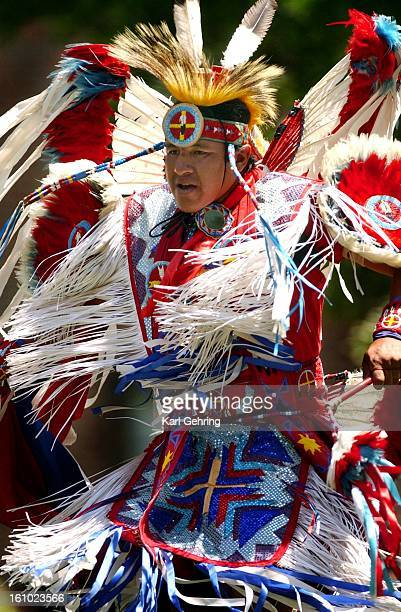 Doug Foote a Lakota dancer from South Dakota was part of a troupe of Native American dancers performing Wednesday at University Hospital to promote...